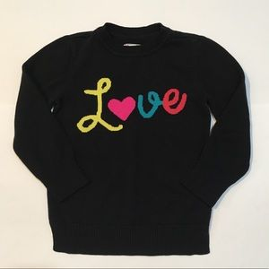 Children's Place Love Sweater Black Small 5 /6